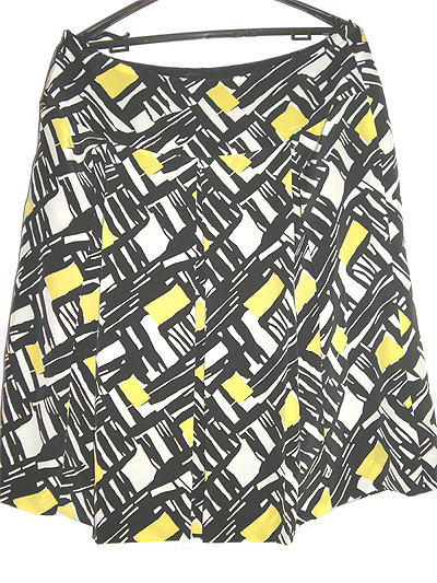 イタリー製シルクプリントで大きなプリーツの入ったスカート